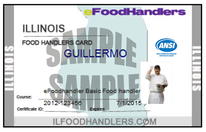 card efoodhandlers illinois samples laminated request